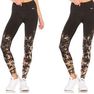 PUMA Premium Black High Waist Leggings Rose Gold